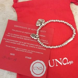 Uno de 50 Romeo heart bracelet silver plated